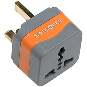 Samsonite Universal Grounded Adaptor Plug. UK and Ireland