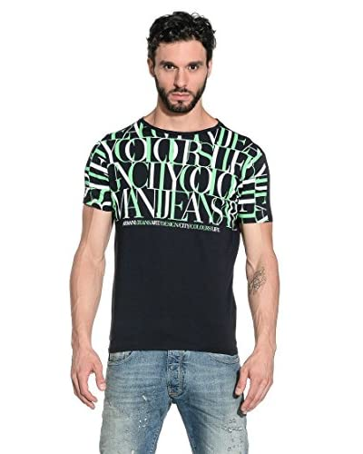 Armani Jeans T-Shirt Manica Corta A6H96-Ba E5 [Blu Navy]