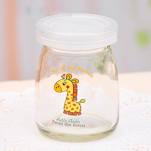 Aliciashouse-100ML-Cartoon-Glas-Pudding-Joghurt-Flasche-Hochtemperaturbestndige-giraffe