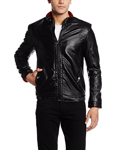 Fort Collins Men's Leather Jacket (28253-ol_Large_Black)