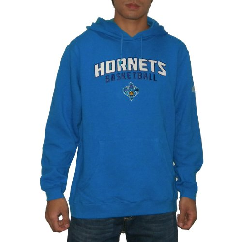 NBA New Orleans Hornets Mens Athletic Pullover Hoodie / Sweatshirt with Embroidered Logo (Size: L)