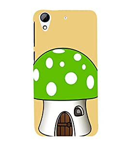 Green Mushroom 3D Hard Polycarbonate Designer Back Case Cover for HTC Desire 626 :: HTC Desire 626 Dual SIM :: HTC Desire 626S :: HTC Desire 626 USA :: HTC Desire 626G+ :: HTC Desire 626G Plus