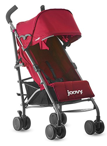 Joovy Groove Ultralight Lightweight Travel Umbrella Stroller, Red