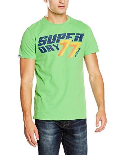 Superdry T-Shirt Manica Corta 77 Speed  [Verde Chiaro]