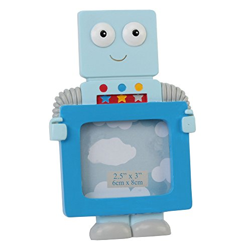 Light Blue Fun Robot Photo Frame By Haysom Interiors - 1