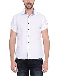 IDENTITI Men's White Casual Shirt