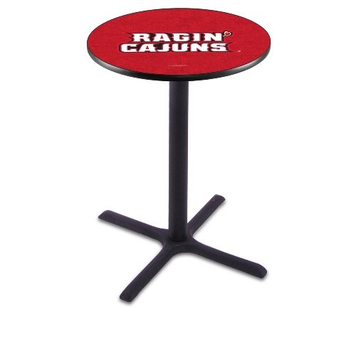"""Holland Bar Stool L211B University of Louisiana At Lafayette Officially Licensed Pub Table, 28"""" x 42"""", Black"""