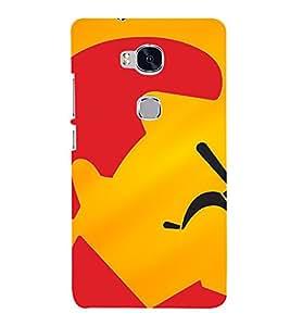 PrintVisa Funny Saddam Hussain Design 3D Hard Polycarbonate Designer Back Case Cover for Huawei Honor 5X