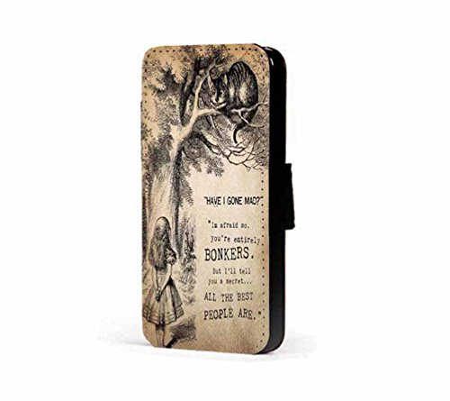 alice-in-wonderland-bonkers-quote-faux-leather-wallet-mobile-phone-case-cover-for-sony-xperia-z5-com