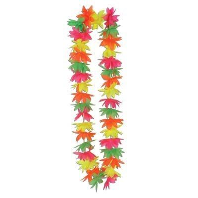 "Silk 'N Petals Neon Lotus Lei 44"" 1/Pkg"