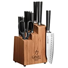 Ginsu 7112 Chikara 12-Piece Stainless Steel Cutlery Set with Bamboo Block