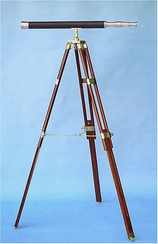30-Inch Leather Sheathed Telescope On Hardwood Tripod