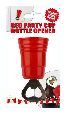 Red Party Cup Bottle Opener and Fridge Magnet (Red Solo Cup Bottle Opener compare prices)