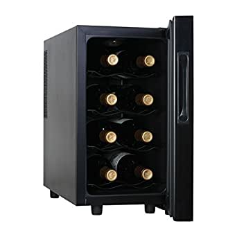Haier HVTM08ABS 8-Bottle Wine Cellar with Electronic Controls