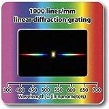 回折格子 プリズムシート 1000本/mm 1枚 分光シート 5cm×5cm