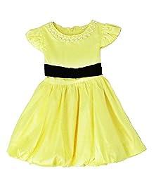 TheTickleToe Kids Baby Girl Yellow Black Pearl Birthday Dress Party Balloon Princess Costume 3-4 Years
