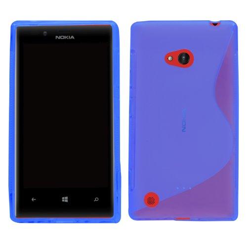 Samrick 6610 S Welle Hydro Gelieren Schutzhülle für Nokia Lumia 720/Nokia 720 RM blau