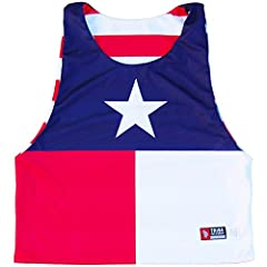 Texas Flag and American Flag Lacrosse Pinnie