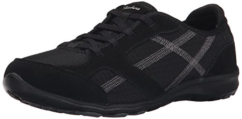 Skechers Sport Women's Dreamchaser Ante Up Walking Shoe, Black, 9 M US