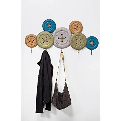 Vintage Button Coat Rack