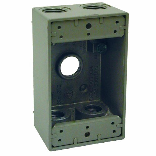 Hubbell Bell 5322-0 Single Gang 5-1/2-Inch Outlets Weatherproof Box, Gray