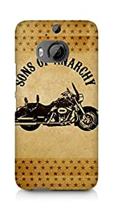 AMEZ Sons of Anarchy Motorcycle Back Cover For HTC One M9+