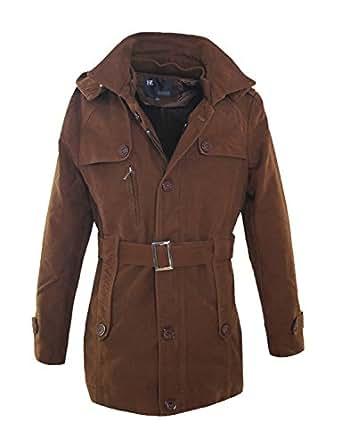 Tom's Ware Coton Manteau Ceinture Pour Hommes TWCC02J-DARKBROWN-L ( US S/M)