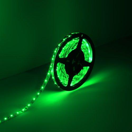 Le Lampux 12V Flexible Led Strip Lights, Led Tape, Green, 300 Units 3528 Leds, Non-Waterproof, Light Strips, 5M
