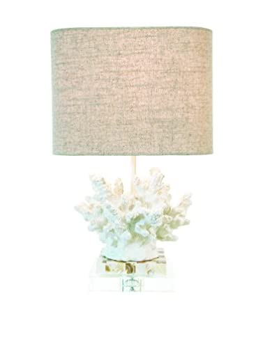 Couture Wayfarer 1-Light Accent Lamp, Chalk White/Mother of Pearl