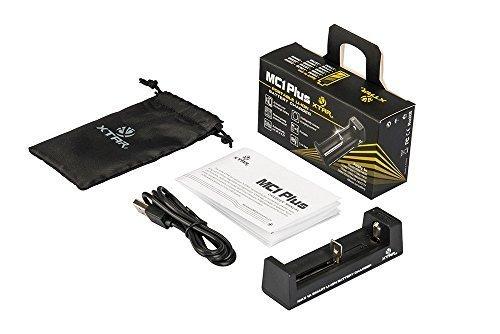 XTAR MC1 Plus Chargeur (MC1 Améliorer) Pour 10440/14500/14650/16340/17335/17500/17670/18350/18490/18500/18650/18700/ 22650/ 25500/26650 3.6V/3.7V Batt