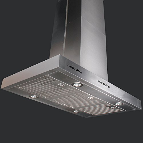 "900Mm Width 36"" Stainless Steel Island Chimney Mount Vents Range Hood Kitchen 900 Cfm front-39767"