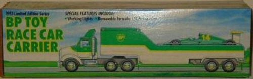 1993 Bp OIL Carrier / Hauler Truck & Race Car, Limited Edition Series - 1
