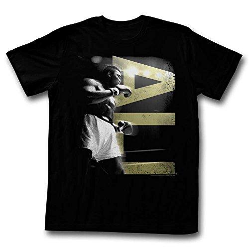Muhammad Ali-Maglietta da uomo, colore: blu nero Medium
