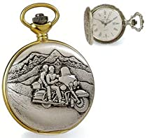 Pocket Watch - Jacques du Manoir Brass Case Motorcycle Watch