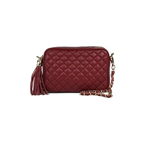 dearwyw-women-genuine-cow-leather-mini-waffle-quilted-square-cross-body-shoulder-bag-wine