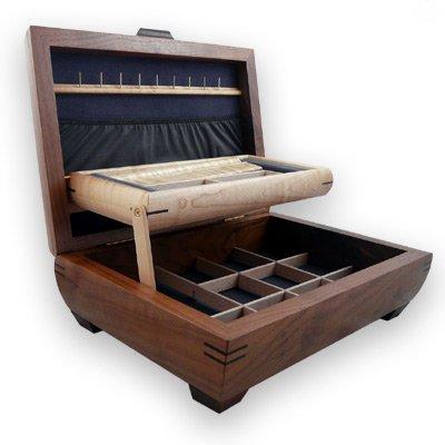 Handmade Walnut & Maple Wood Jewelry Box