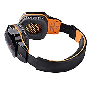 [2015 New Version]versiontech Bluetooth 4.0 Wireless Stereo NFC Noice Isolating Gaming Headphones Headsets - Over Ear Cordless Headphones with 3.5mm Wired Audio In, NFC Tap to Connect and Built-in Microphone Which Is Compatible with Smartphones, Laptops,