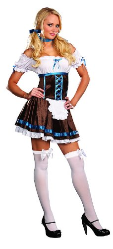 Womens X-Small (0-2) Carrie D. Brewski Milk Maid Costume