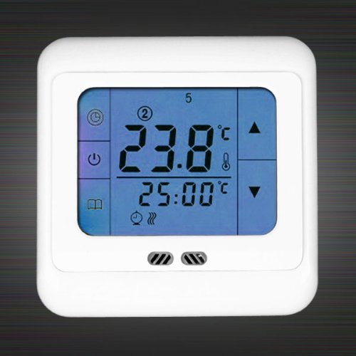 Blue Touch Screen Electric Floor Underfloor Heating System Thermostat Controler
