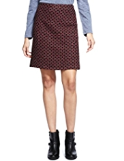 M&S Collection Square Tweed Mini Skirt with Wool