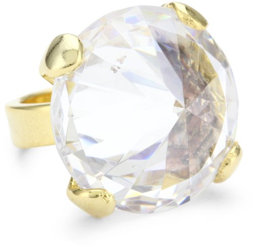 nOir D'oro Point Out Cubic Zirconia Cone Ring, Size 7