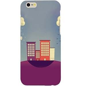 Casotec Building Cloud Vector Design Hard Back Case Cover for Apple iPhone SE