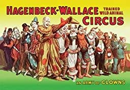 12 X 18 Stretched Canvas Poster Army of Clowns: Hagenbeck-Wallace Trained Wild Animal Circus