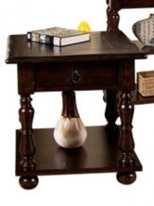 3214JV-E Jefferson End Table in Brown (3214JVE)