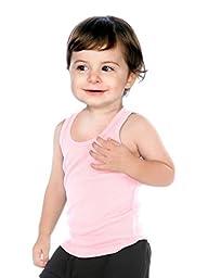 Kavio! Unisex Infants Beater Tank (Same I2Y0514) Baby Pink 18M