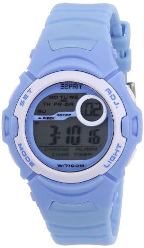 Esprit - ES906464003 - Montre Mixte - Quartz Digitale - Bracelet Résine Bleu