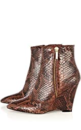 Limited Edition Pointy Snake Ankle Boot