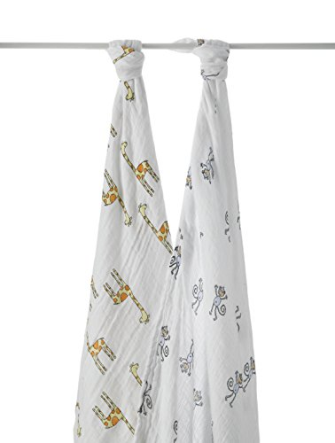 anais in Aden (Aden and ANA) [Japan AE: muslin cotton swaddling 2 piece set jungle jam swaddle 2 pack-4023