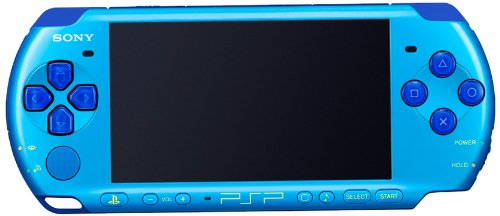 SONY PSP Playstation Portable Console JAPAN MODEL PSP-3000 Piano Marine Blue Value Pack | PSPJ-30027 (Japan Import)