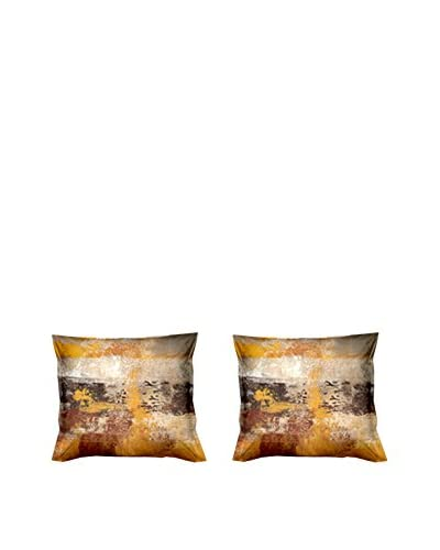 FOOL COLORS by MANIFATTURE COTONIERE Set Funda De Almohada 2 Uds. November Ocre